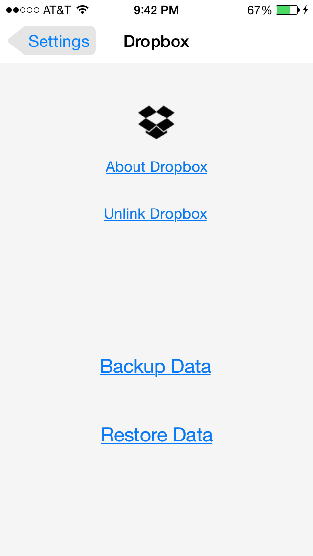 Ace Budget 3 Dropbox backup / restore