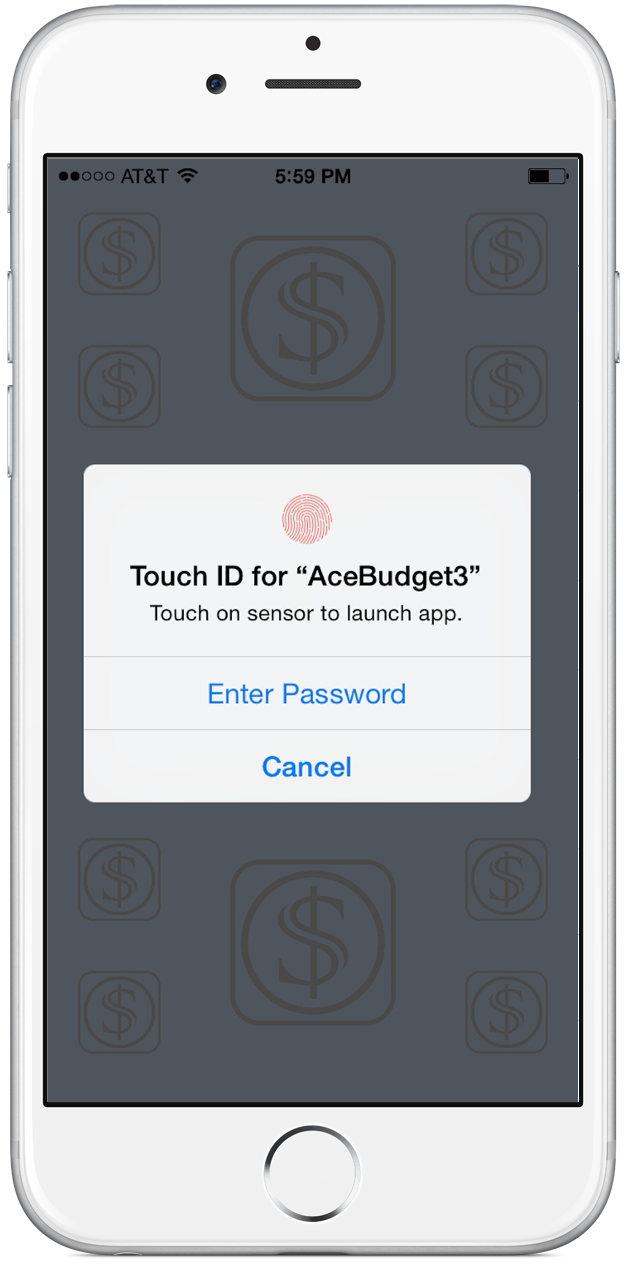 Touch ID Login View